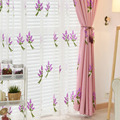 Романтичная Лавандовая Тюлевая занавеска с вышивкой для кухни  спальни  гостиной  прозрачная занавеска  белые оконные жалюзи