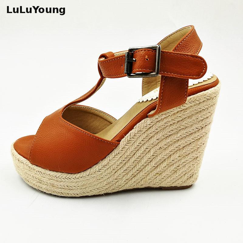 platform shoes high heels open toe sandals wedges platform women 30 31 32 33