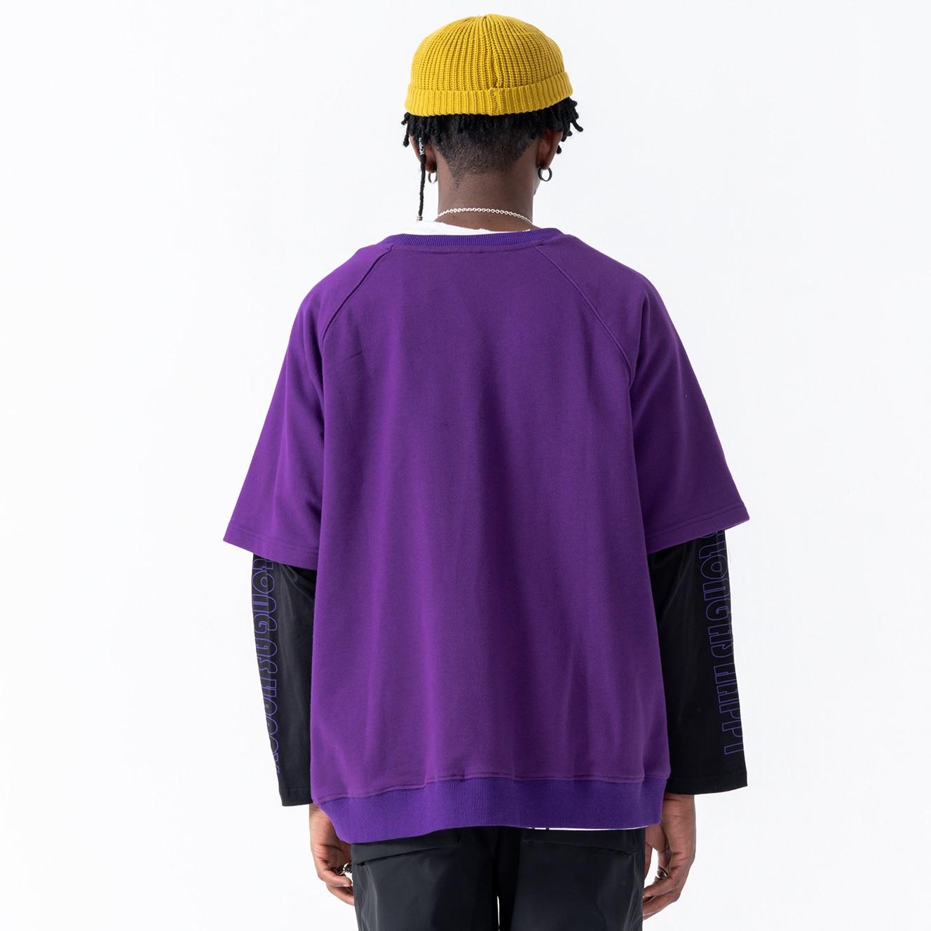 Marea Falsa Bordado De Marca Suelto Hop 2019 Hip Piezas Baile Negro Calle Dos Oscn7 W188 Sudadera Hombres púrpura Impreso dRnCdw
