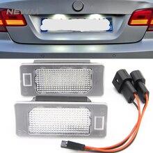 2 шт. 24 SMD автомобилей светодио дный номерной знак свет лампы для BMW E90 E82 E92 E93 M3 E39 E60 E70 X5 E39 E60 E61 M5 E88
