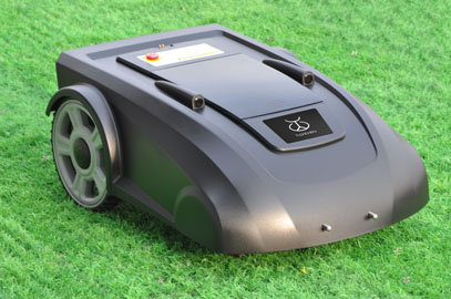 Automatic Robot Lawn Mower with LED display and  free  shipping hot sale robot lawn mower with rain cover black robotic lawn mower with good quality free shipping
