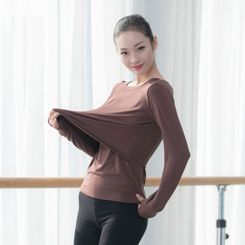 Ballet Women Dance Tops Modal Two Piece T Shirt Dance Camisole Ballerina Dancewear Lyrical Dance T Shirt Hip Hop Dancing Clothes