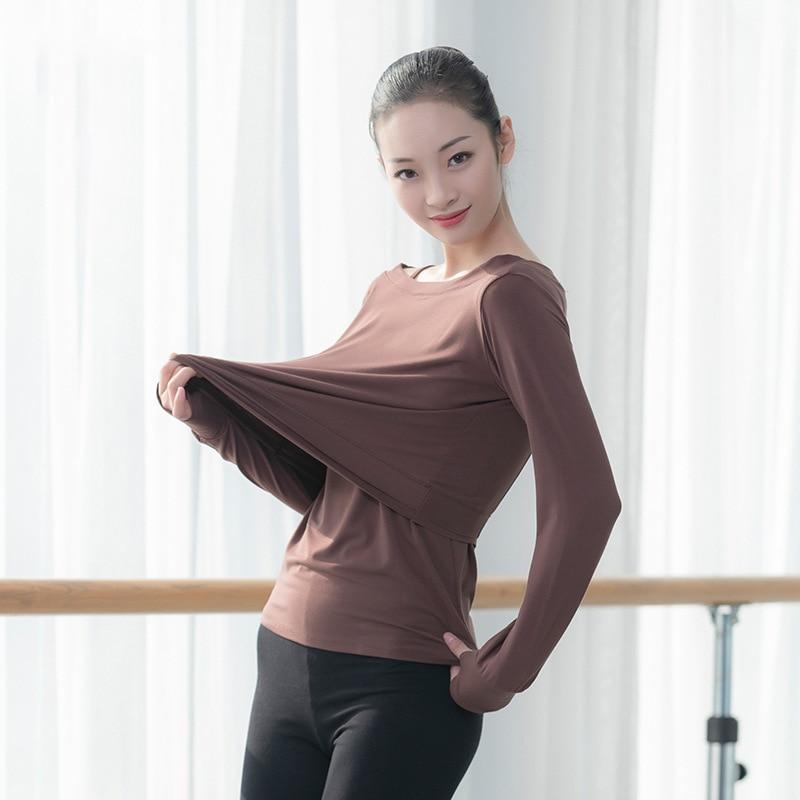 Ballet Women Dance Tops Modal Two Piece T Shirt Dance Camisole Ballerina Dancewear Lyrical Dance T Shirt Hip Hop Dancing Clothes
