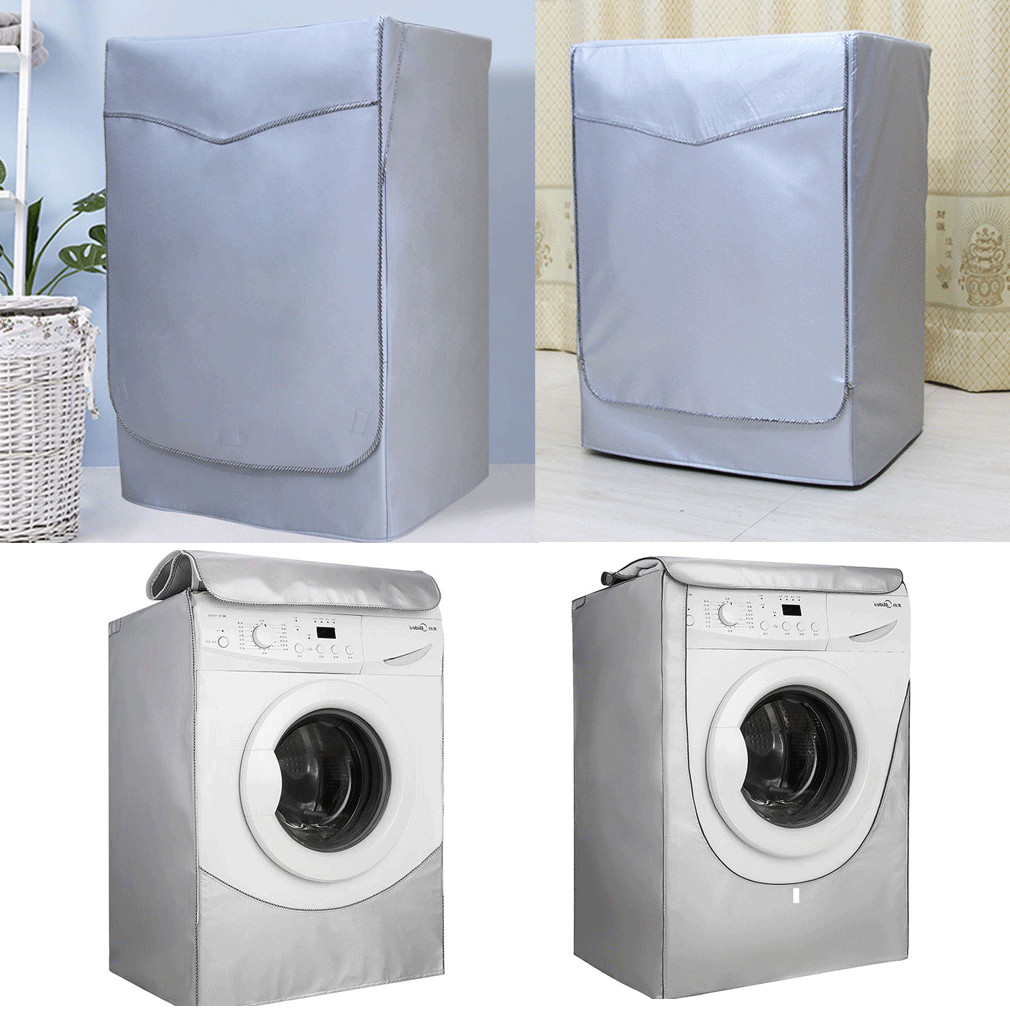 Waterproof Solid Roller Washing Machine Zippered Dust Guard Cover Protection Front Cover Hot in Washing Machine Covers from Home Garden