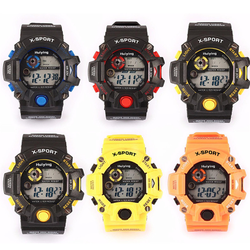 d6dad8e144e 3bar de Silicone Hombre em Cinza Nova Dames Horloge Relógios Desportivos  Militar Liderada à Prova d  Água Relojes Digitales Azul Laranja Vermelho  Amarelo