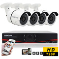 SUNCHAN 8CH CCTV System 1080N HDMI AHD 8Channel CCTV DVR 4PCS 1.0 MP Outdoor Security Camera 1200TVL Camera Surveillance System