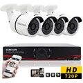 SUNCHAN 8CH Sistema de CCTV AHD 1080N HDMI 8 Canais DVR CCTV 4 PCS 1.0 MP Câmera 1200TVL Câmera de Segurança Ao Ar Livre Sistema de vigilância