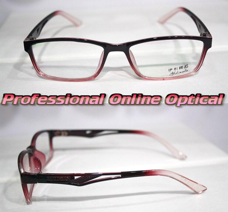 a5ff07562 Moda Roxo gradiente quadro Óptico Custom made lentes ópticas óculos de  Leitura + 1 + 1.5 + 2 + 2.5 + 3 + 3.5 + 4 + 4.5 + 5 + 5.5 + 6