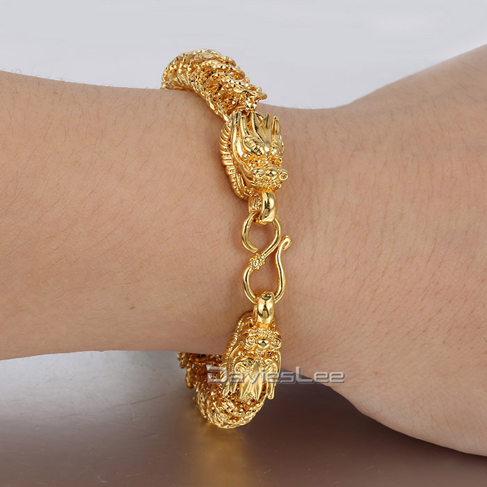 7mm 20 2cm Shiny Womens Chain Las S Dragon Head Franco Box Link Yellow Gold Filled Bracelet Clasp Whole Lgb388 In Bracelets From
