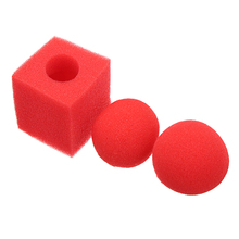 Spong Ball Magic Ball To Square Close Up Magic Tricks Easy To do Magic Toy for Children Magician Trick Free Drop Shipping