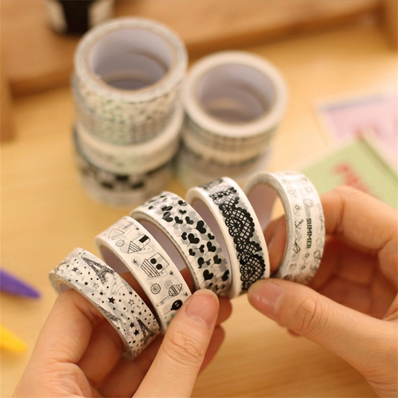 5 pieces piece diy decorative tape tape 15mm 10m for Tape works decorative tape