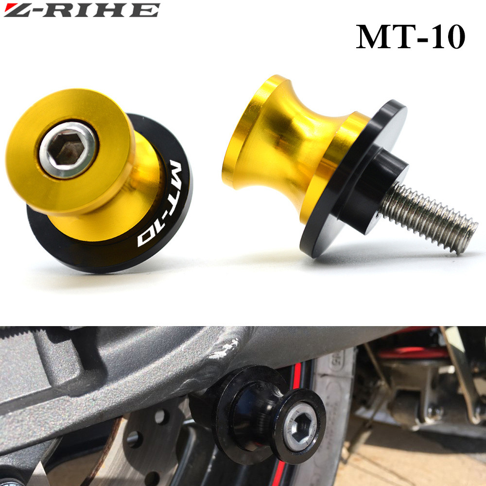 FOR MT 10 Swingarm Slider Spools stand screws For Yamaha MT10 MT-10 MT 10 CNC Motorcycle accessories parts motorbike with logo 2pcs universal motorcycle stand screws cnc swingarm swing sliders spools m6 m8 m10 for yamaha r3 honda crf 450 suzuki gn250