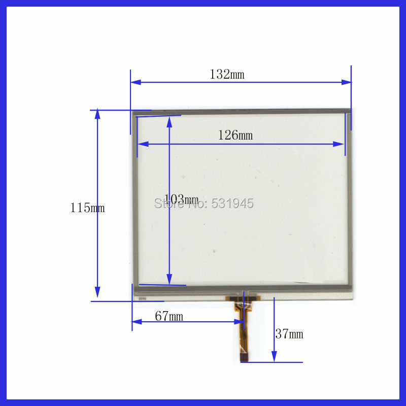 Купить с кэшбэком ZhiYuSun 132mm*115mm  Touch Screen  5.7inch for GPS GLASS 132*115  commercial use  gps touch on display   this is compatible