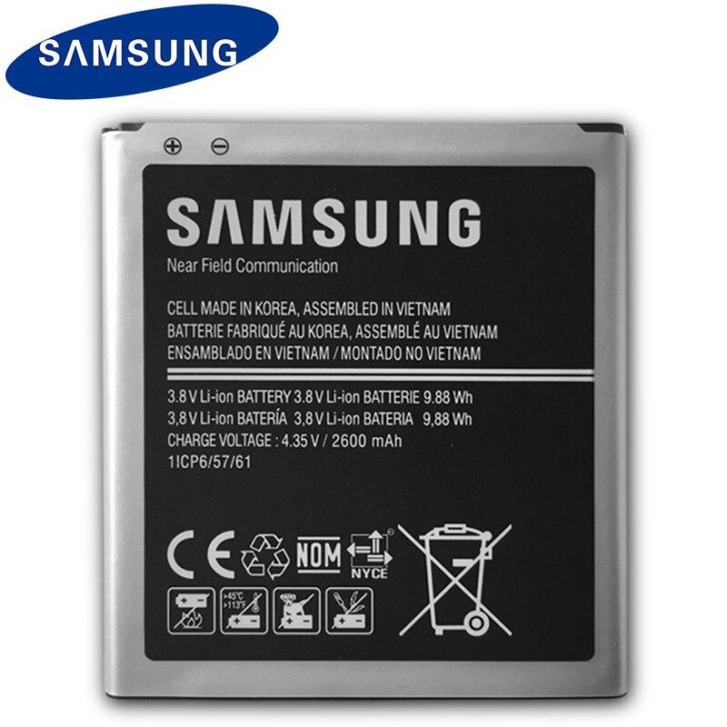 D'origine Samsung Batterie 2600 mah Pour Galaxy Grand-Premier G530 G530F G530FZ G530Y G530H G531 J500 J3 (2016) j320 EB-BG530BBE NFC