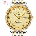 Carnival 2018 новые роскошные брендовые деловые золотые мужские часы автоматические часы мужские водонепроницаемые механические часы с датой не...