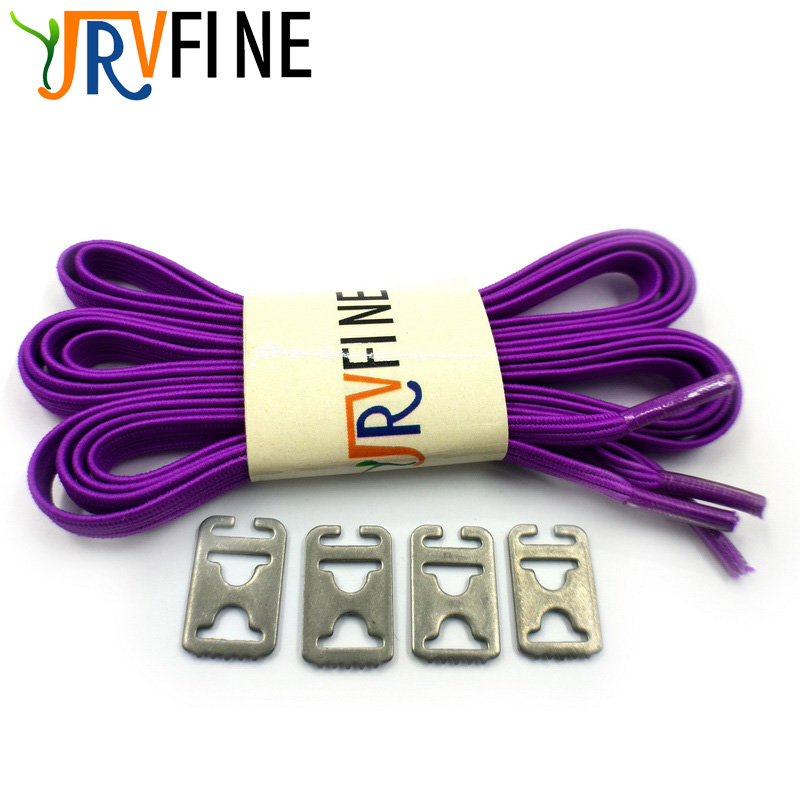 все цены на Free Shipping 1 Pair Purple High Top Elastic Lazy Shoelaces Adults Children Locking Sneaker No Tie Shoe Laces Elastic Shoelace