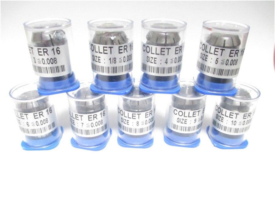 Купить с кэшбэком High Precision 0.008 9pcs ER 16  collets ER16 Spring Collet Suitable for ER Collet Chuck Holder