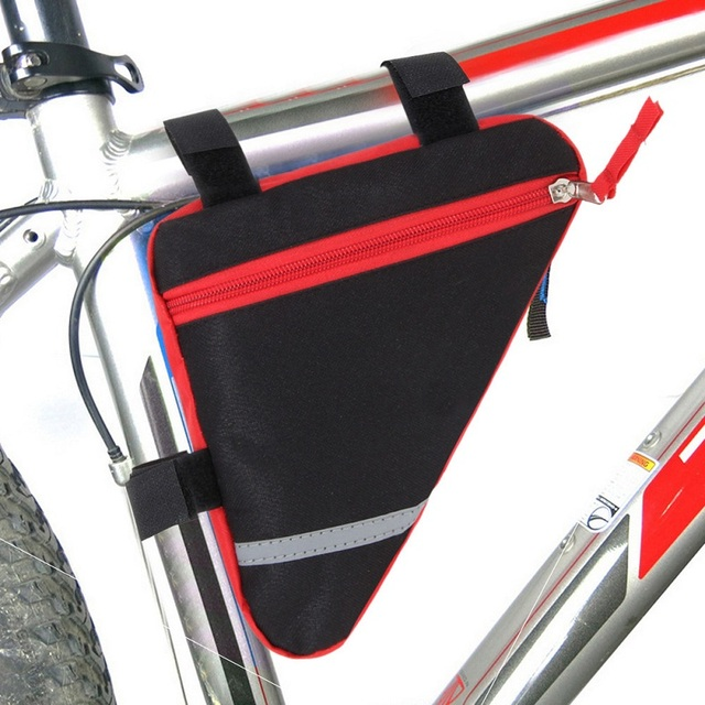 bicycle triangle front tube frame bag outdoor cycling front bag with reflective strip mtb mountain bike - Mountain Bike Frame Bag