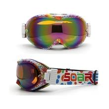 font b Snowboard b font Goggles Anti fog UV400 Men Women Teens Ski font b
