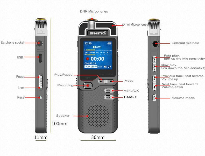 Shmci D40 voice recorder08