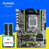 Computer hardware supply HUANAN ZHI X79 motherboard with M.2 slot CPU Intel Xeon E5 1650 V2 3.5GHz memory 16G(2*8G) 1600 REG ECC