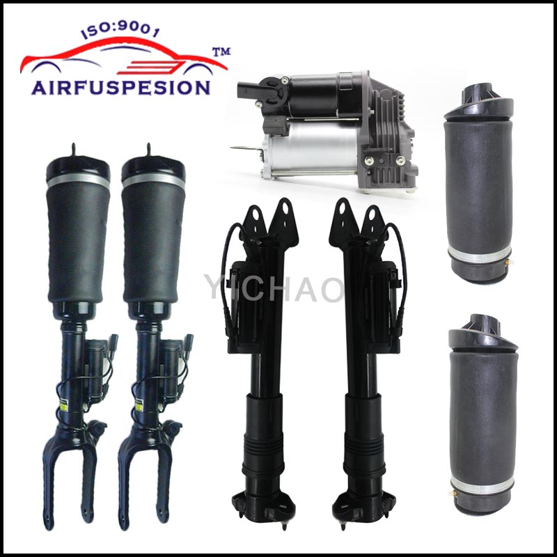 1set air suspension strut for MERCEDES benz R Class W251 V251 shock absorber with ADS and air spring bag and air compressor free shipping for mercedes w251 air spring bag rear r350 r500 r class air suspension shock strut air ride 2513200325 2513200425