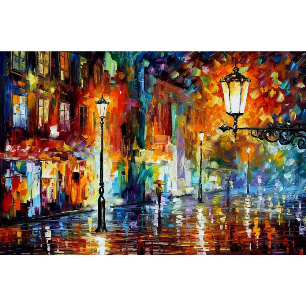 modern art paintings for sale night lights knife oil painting Landscape for living room Hand paintedmodern art paintings for sale night lights knife oil painting Landscape for living room Hand painted
