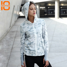 TENNEIGHT Women Camouflage Long Sleeve Hooded shirt Military Tactical  quick-drying Shirts Outdoor Sports Hiking Jogging T