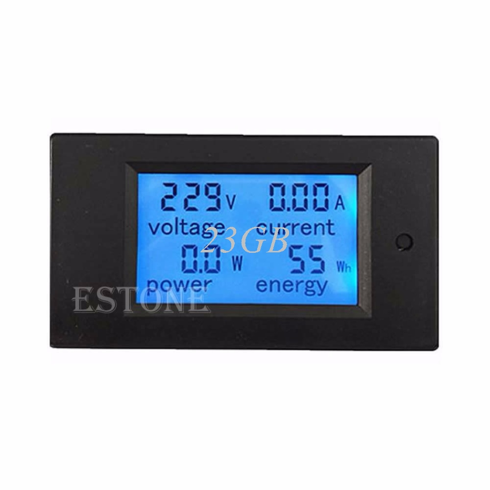 2017 NEW LCD Digital Volt Watt Power Meter Ammeter Voltmeter AC 80-260V 20A APR05_17 wholesale 5pcs d85 2042a lcd dual display digital ammeter voltmeter ac volt current meter black