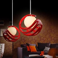 Resin and Glass Modern Lamp LED Pendent Light For Dinning Living Room , Lustres e Pendentes Luz,Lustre De Para Quarto