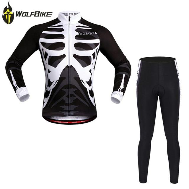 WOSAWE Cycling Long-sleeved Sets Breathable Mountain Bike Jersey+Pants  Ciclismo MTB bike Cycle Clothing Bike Sportswear 27a72ff4b