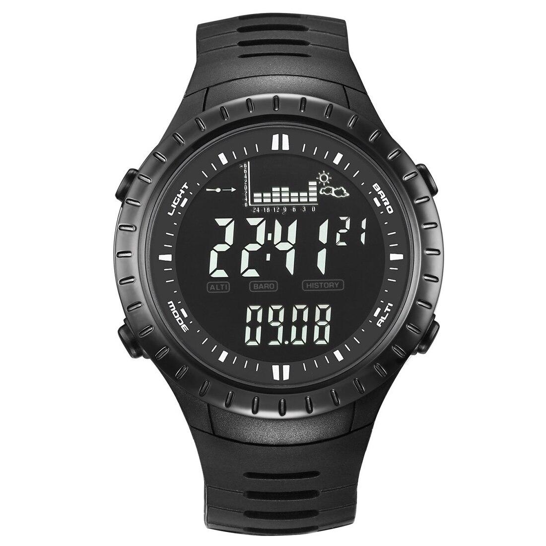 Spovan SPV710 Men Sports Alarm Altimeter Fishing Quartz Watches Black spovan sc black