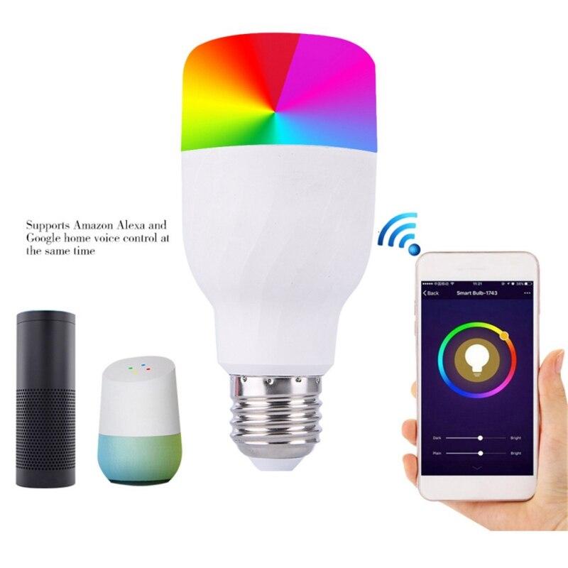 E26/E27/B22 RGB LED Bulb 7W 11W Color Changeable Lamp LED Spotlight Wifi Romote Control AC85-265V Holiday Lighting led