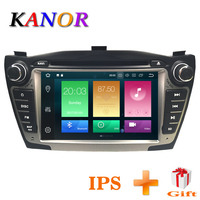 KANOR Double 2din Car Radio Android 8.0 4+32g For Hyundai IX35 Tucson GPS Autoradio Android With WIFI SWC BT IPS Screen