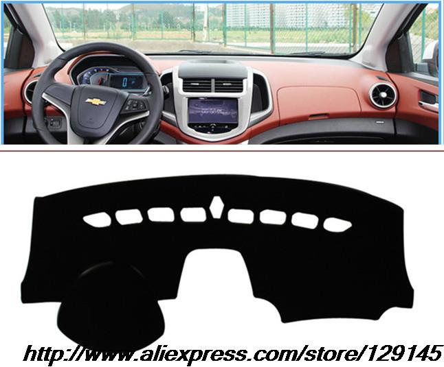 For Chevrolet Sonic aveo dashboard mat Polyester Protective pad Shade Cushion Photophobism Pad 2010 2011 2012 2013 2014 2015 LHD