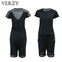 Patchwork Mesh Yoga Set Women Sports Suit Women Fitness Plus Size Running Tights Sport Gym Clothing