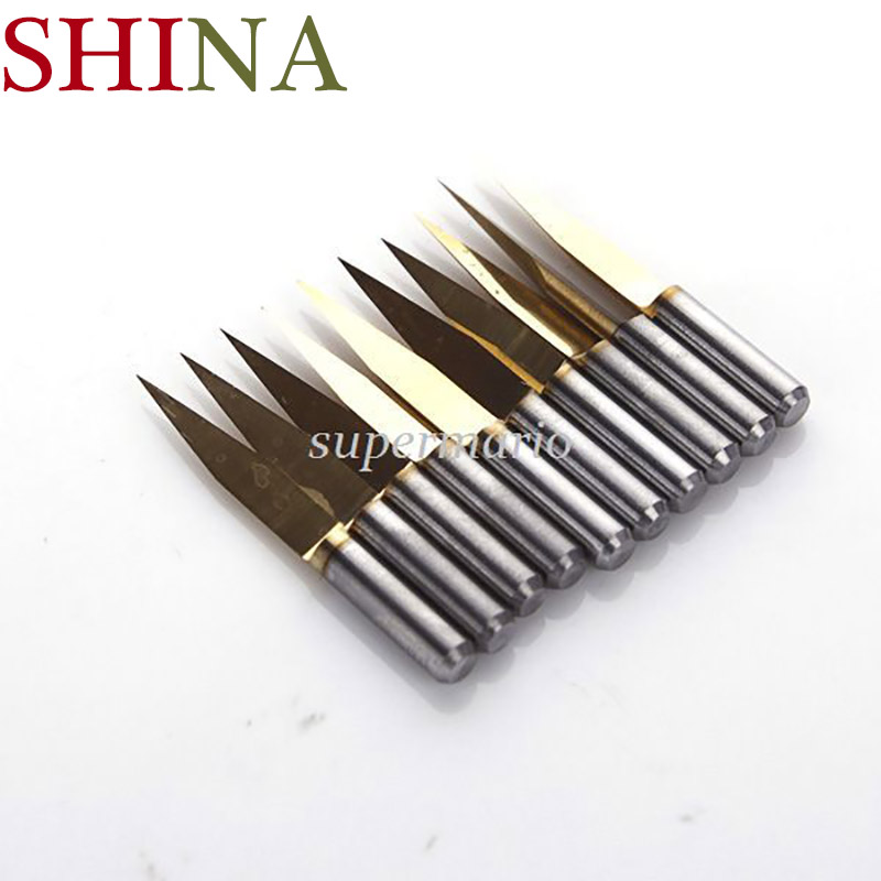 10pcs*20 Degree 0.1mm Titanium Milling Cutters Coated Carbide PCB Engraving CNC Bit Router Tool Tip/SHINA 10x titanium milling cutters coated carbide pcb engraving cnc bit router tool 45 degree 0 2mm tip