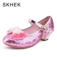 Skhek Enfants принцессы Сандалии для девочек Дети Обувь для девочек Свадебные Туфли модельные туфли на высоком каблуке обувь для вечеринок для Об...