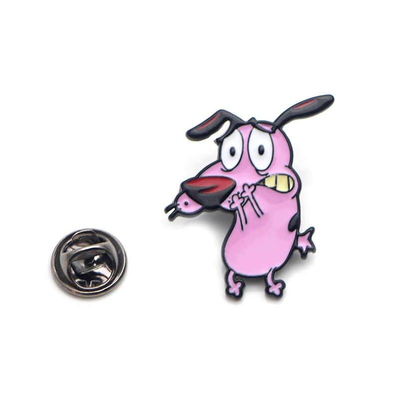 Leone Il Cane Fifone In lega di Zinco perni di legame badge para borsa camicia di vestiti cap zaino scarpe medaglia spille decorazione E0203