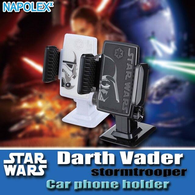 Starwars star wars dos desenhos animados telefone do carro suporte para carro titular para iphone 6 7 sumsung 360-car styling car painel ajustável brack