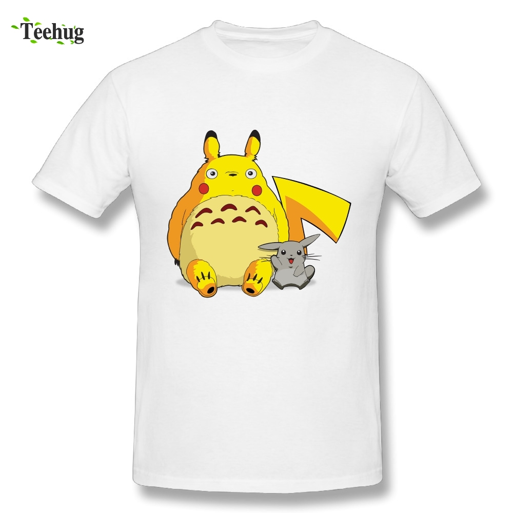 3D Print Male My Neighbor Totoro Pikachu T Shirt Hot Sale Anime Novelty Design T-Shirt