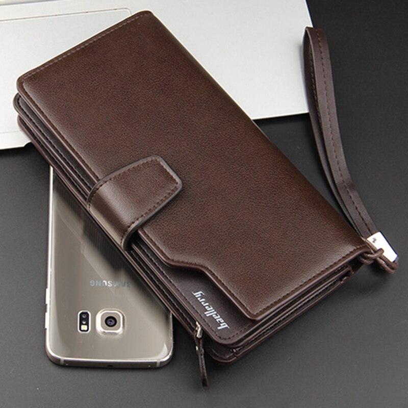Korthållare Läder plånbok män Lång design Kvalitet pass täcka - Plånböcker - Foto 4