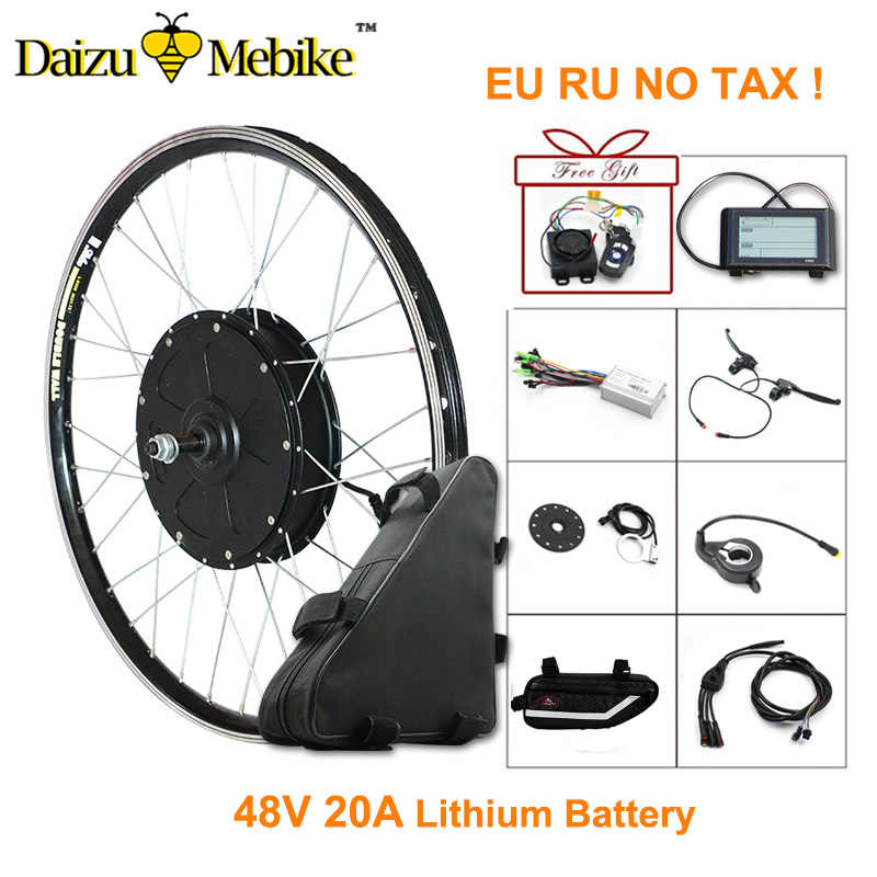 "48V 1000W Electric Bicycle Kit E Bike Kit with 48V 20AH Lithium Battery 26""700C Motor Wheel Ebike electronic diy kit LCD display"