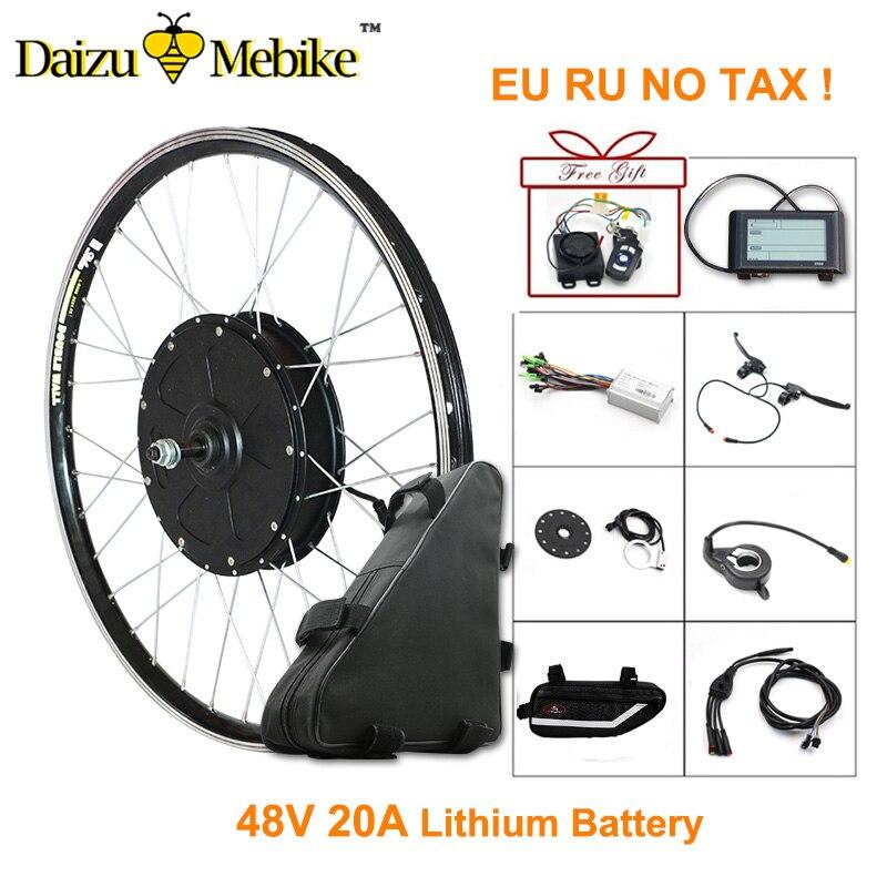 48 V 1000 W Bicicletta Elettrica Kit E Kit Bici con 48 V 20AH Batteria Al Litio 26