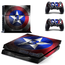 CAPTAIN AMERICA 3 PS4 Skin Decal Sticker For PlayStation4 Console and 2 controller skins