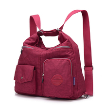 Preppy Style Women Nylon Backpack Natural School Bags For Te