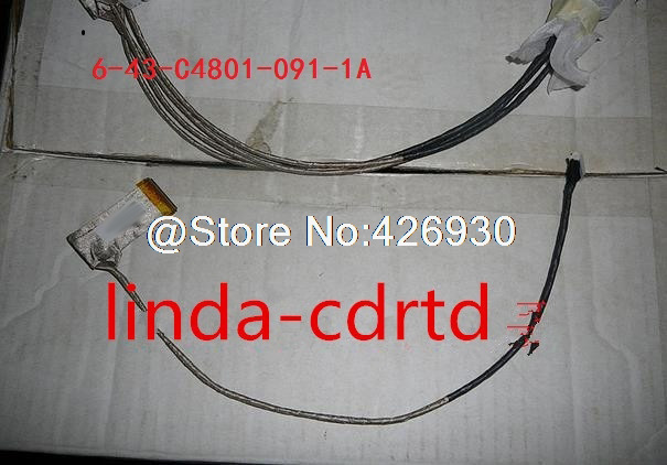 Laptop LCD LVDS Cable For CLEVO C4500 4800 6-43-C4801-091-1A/6-43-C4801-022/6-43-C4801-052 New Original laptop lcd cable for clevo m765su m760s 15 4 6 43 m76s1 011 w540eu 6 43 w5501 010 c 30pin