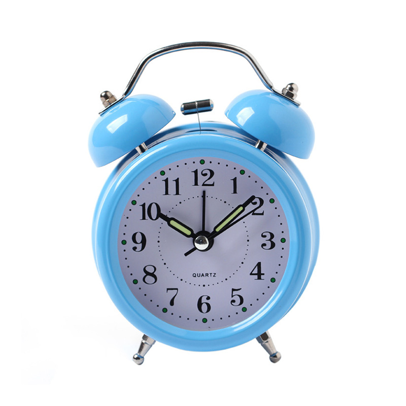 New Arrival Classical Alarm Clock Double Bell Silent No Ticking Desk Table Alarm Clock Bedroom Office Bedside Clock