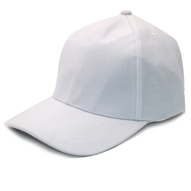 39ee05e3ea 1Pcs Fashion Cap Women Men Summer Spring Sport Cap Solid Adult Baseball Cap  White Hat Snapback Women Mens Caps Casquettes