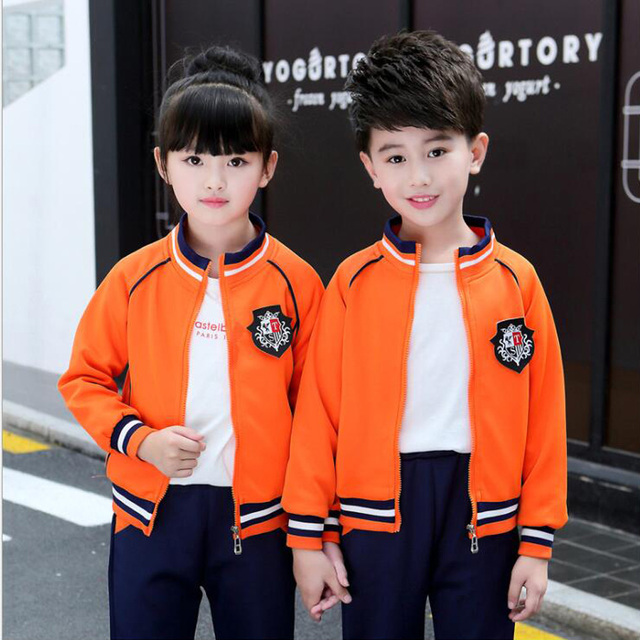 f6ff09f78964e US $30.29 20% OFF|Adults child Primary School Uniforms Tops Pants Teenage  Kids clothing sports suit costume boys girls baseball tracksuit outfits -in  ...
